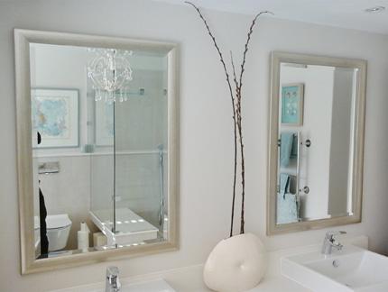 Bathroom vanity mirror frame